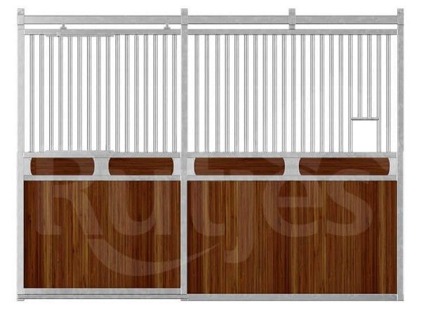 Voorwand Professional_schuifdeur_bamboe_horizontale plank