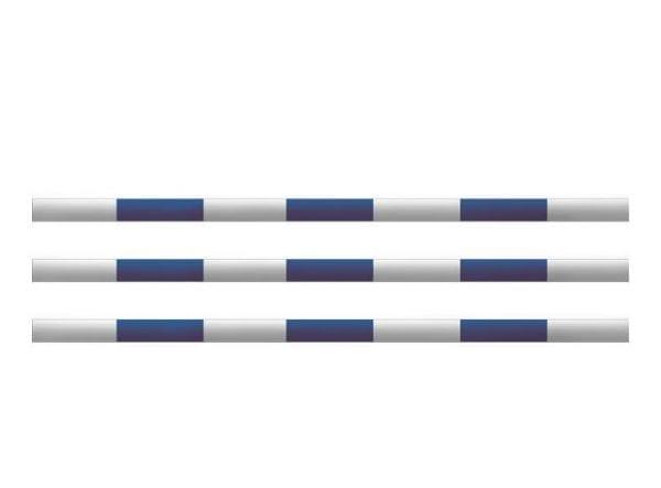 Hindernissen - houten balk blauw