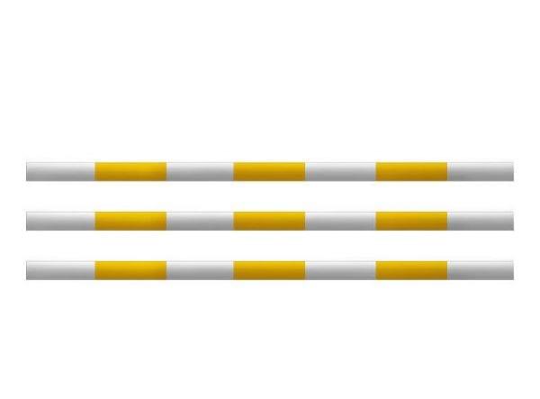 Hindernissen - houten balk geel