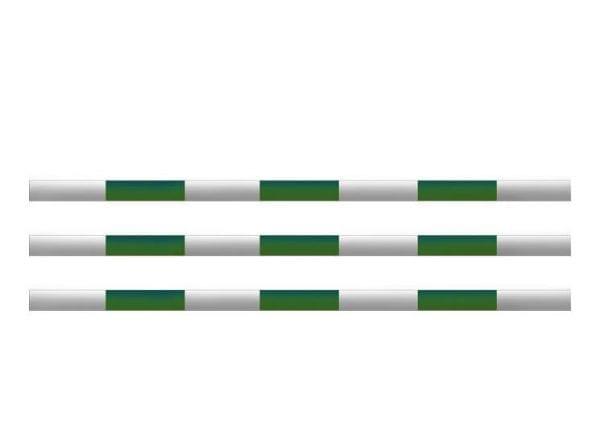 Hindernissen - houten balk groen
