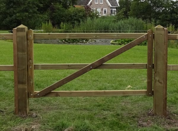 Houten poort - Traditioneel - enkel - tanalith