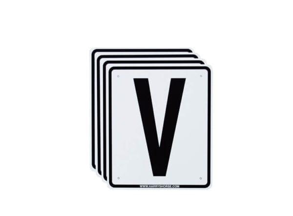Rijbakbordjes dressuurletters aanvullend - rijbak letters 20 x 60