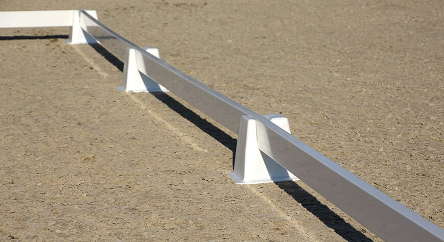 Dressuurring verplaatsbaar - slider