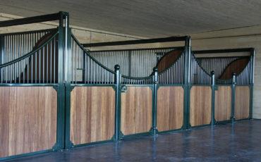 Luxe paardenboxen met uitschuifbare wanden