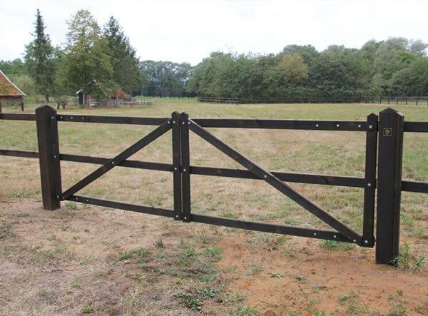 dubbele houten poort - dura2 landhek voor tuin of wei